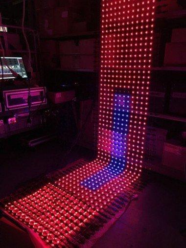 3D Flexible LED Mesh