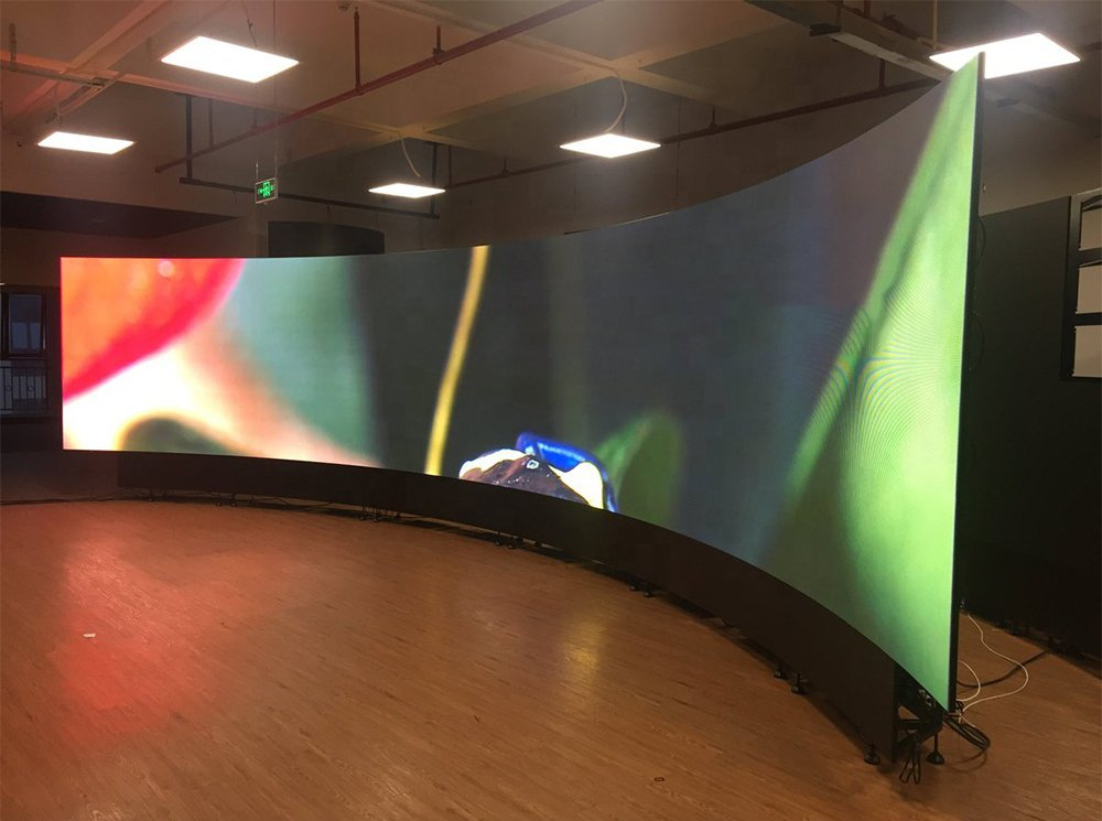 indoor ve outdoor advetising curved led display