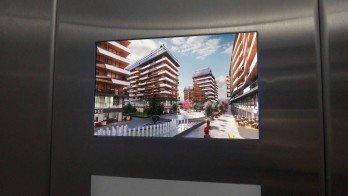 Gömme Tipi Asansör İçi LCD Ekranlar