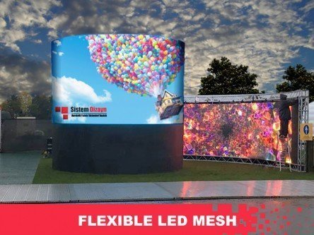 3D Flexible LED Mesh