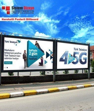Hareketli Posterli Billboard