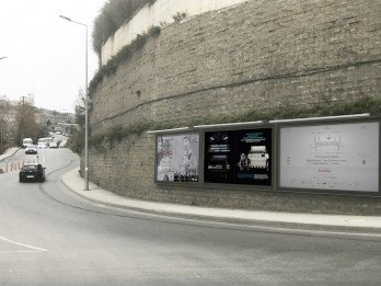 Duvar Tipi Sabit Posterli Billboard Tabela