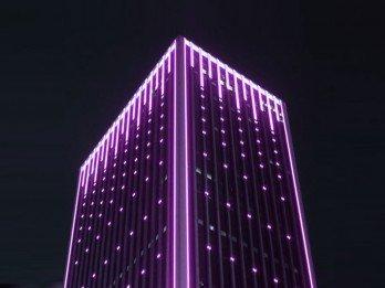 Tek Renk LED Bina Giydirme & DMX Kontrollü Yönetim